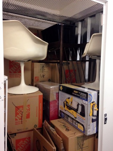The majority of my worldly goods packed into a 6x10 storage locker.