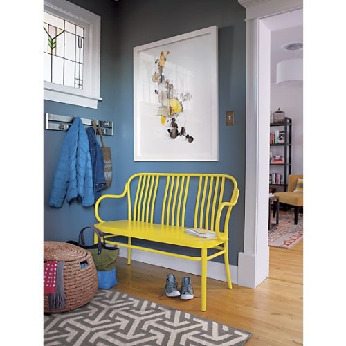The now no longer available (in yellow) Sonny Bench from Crate and Barrel