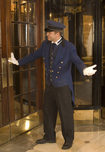 NOT OUR DOORMAN... White glove buildings are not really our style.
