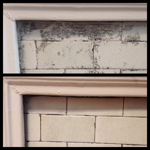 Close up of before (top) and after (bottom) stripping. So worth the effort.