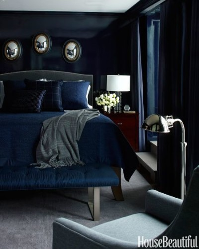 Navy Blue and Black and Silver... So elegant and sleek.