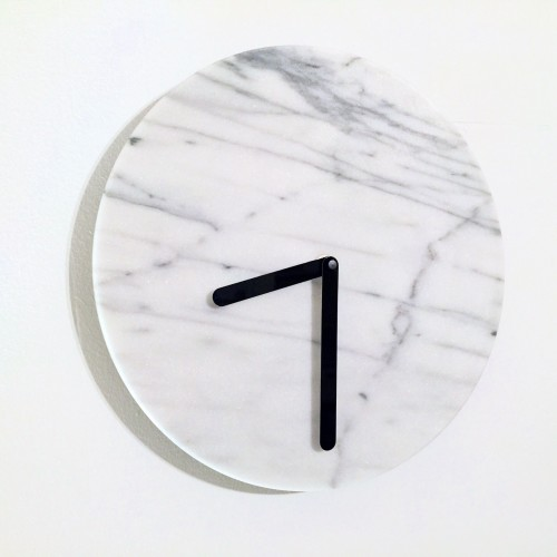 I fell in love with this marble clock at Crate and Barrel and when I discovered it on close out for $29.95, my love for it grew even deeper.