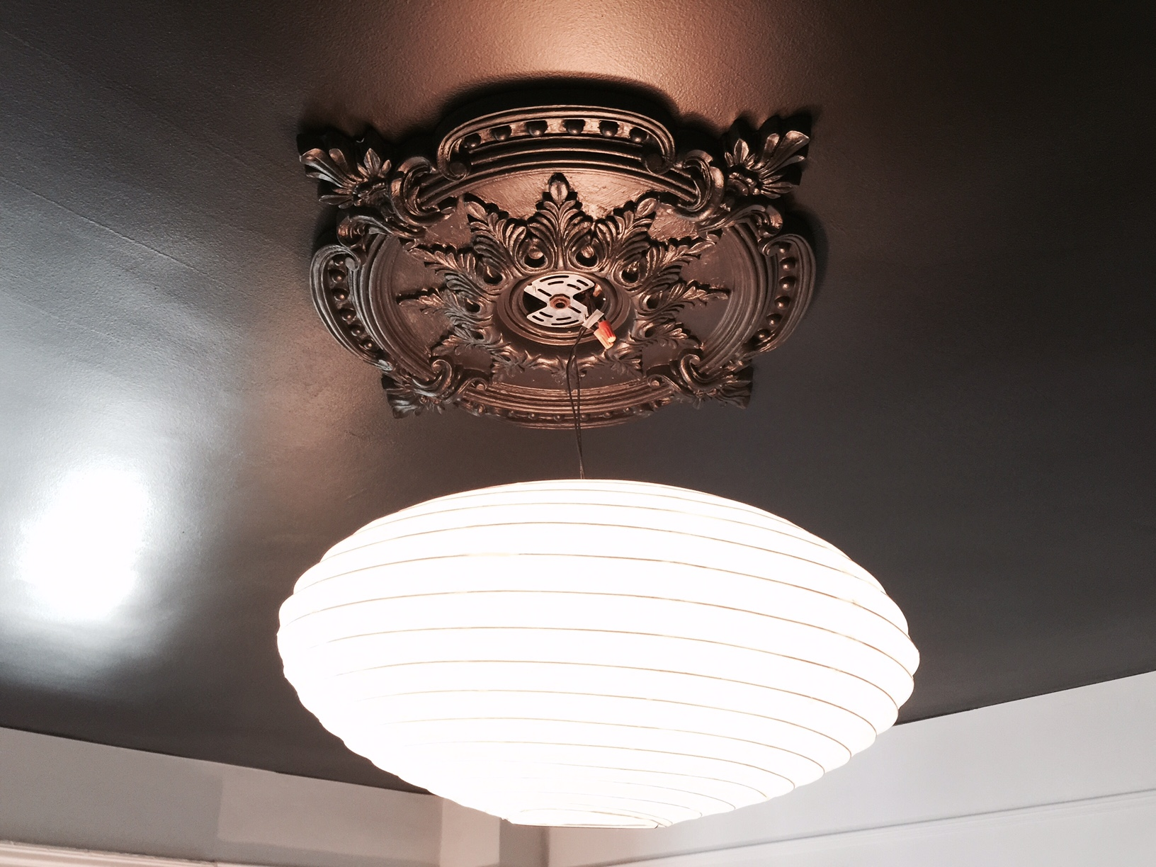 watch fan hole a around ceiling youtube medallion cover light