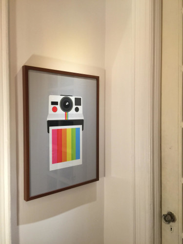 Polaroid Print from the Yumalum Shop on Etsy in Ikea Ribba frame.
