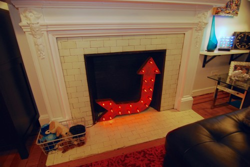 The much improved fireplace