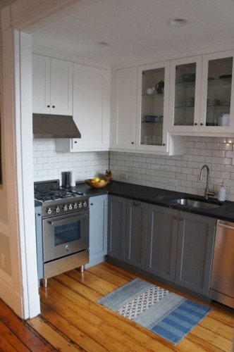 This is the same kitchen I posted (different angle) in my last post. A great example of using Ikea cabinet shells and custom Semihandmade doors.