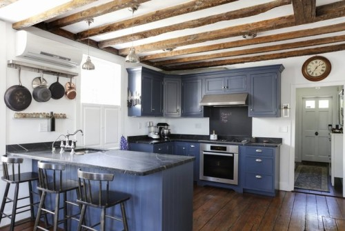 This blue kitchen was the kitchen which started my obsession with the idea that cabinets can be other colors besides black, gray, or white, and still remain timeless in design.