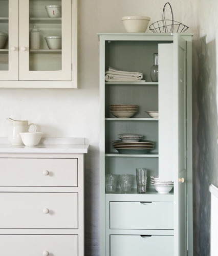 Chic Kitchen Pantry Features White Shaker Cabinets Fitted: Meanwhile, Back In The Kitchen.... Part II