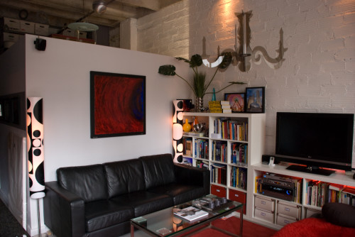 My living room at my loft in the Chicago Loop (circa 2007)