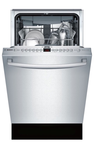 "The Bosch SPX68U55UC 18"" dishwasher is so quiet, you will barely know it is running. [Source: Bosch SPX68U55UC]"