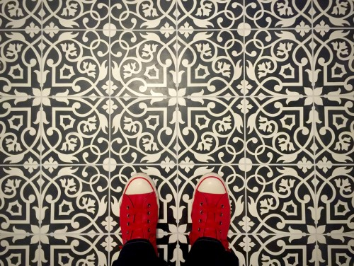 Clichéd shot, I know.... But I couldn't resist. The floor is just too beautiful!