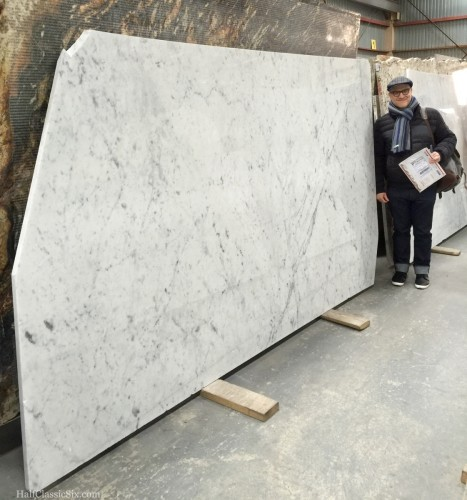 Yoav and I schlepped out to Greenpoint, Brooklyn to check out giant slabs of Cararra marble.